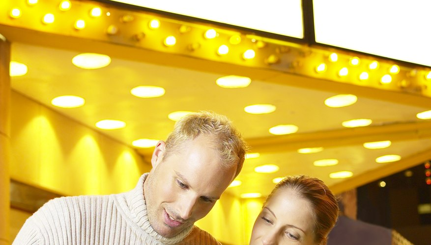 Going to the movies is a comfortable activity for a first date.