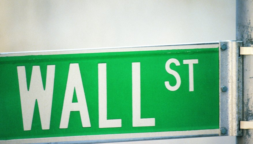 Stock market action centers on New York's Wall Street.
