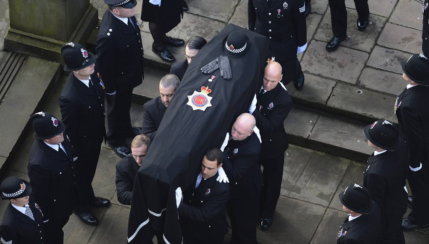 Typically six to eight pallbearers are chosen for a funeral service.