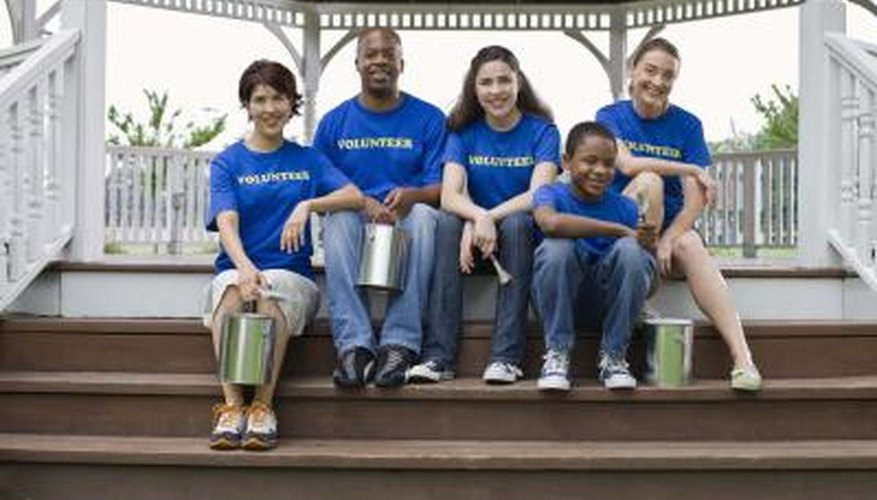 An organisation that is socially responsible may ask its employees to volunteer.