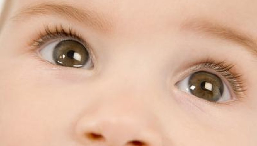 Parents often wonder what colour of eyes their baby will have.