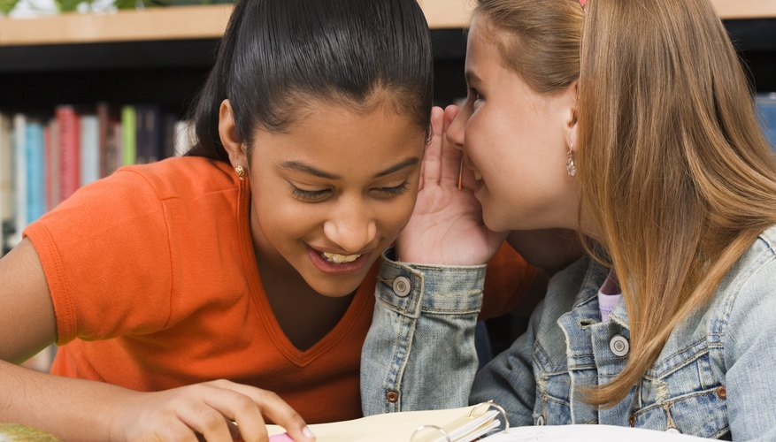 Discuss with your child how to handle gossiping and other forms of drama before they happen.