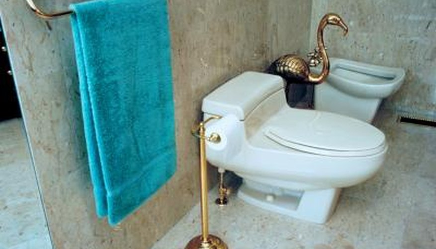 Bidets are common fixtures in European bathrooms.