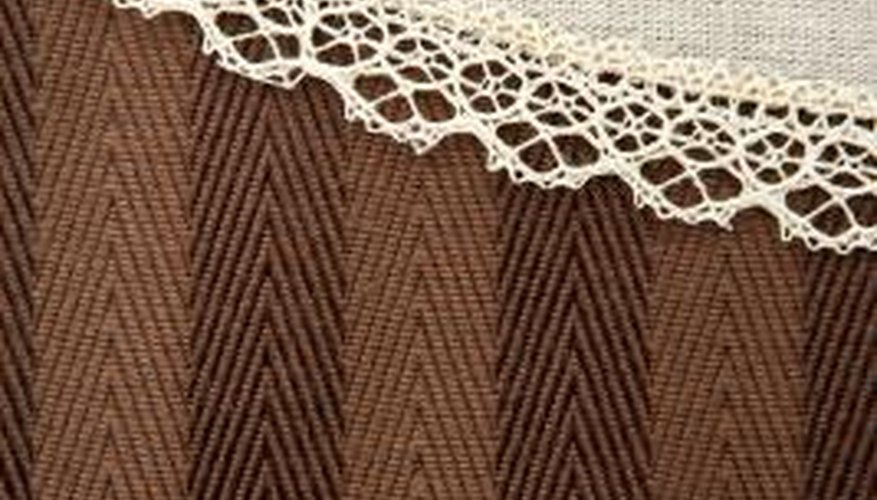 Apply a small amount of fabric hardener to lace edges, forcing them to lie flat.