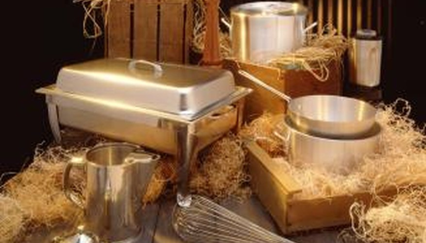 Gel fuel keeps food in chafing dishes and other metal containers warm.