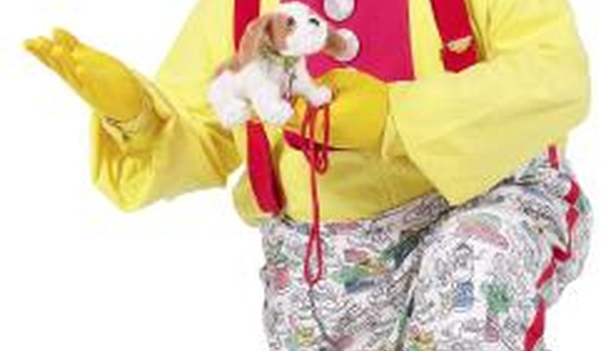 The bright colours allow the clown to be seen from far away.