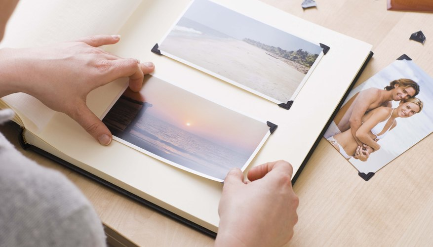 Design a mock photo album that captures the notable moments in the subject's life.