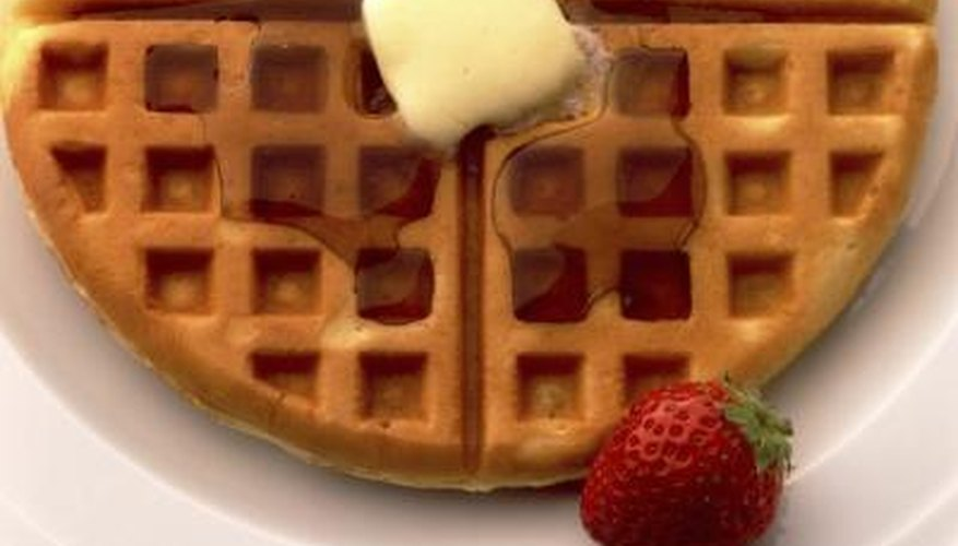 Homemade waffles are delicious, but cleaning up can be sticky business.