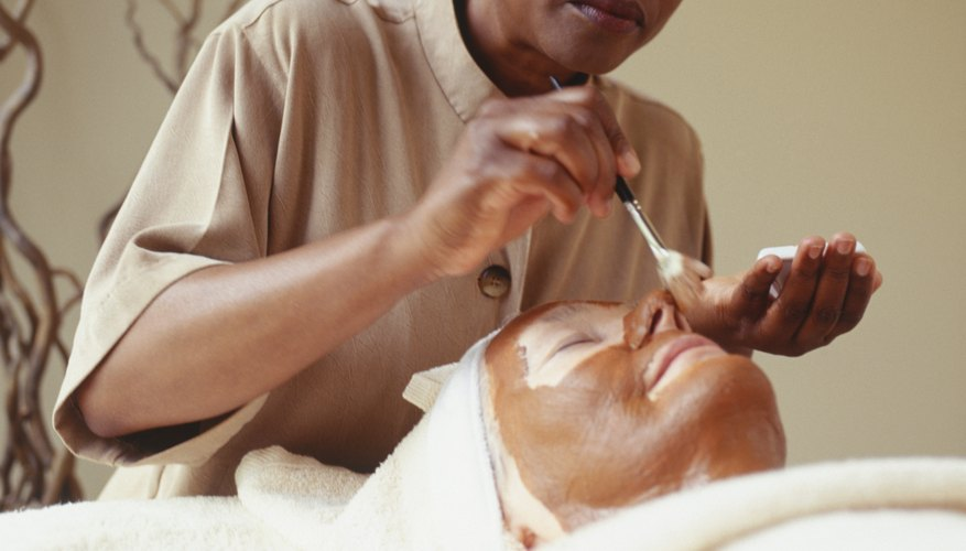 During a facial, an  esthetician applies  products picked out especially for your skin.