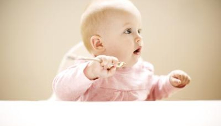 Silver spoons are a traditional English baby gift.