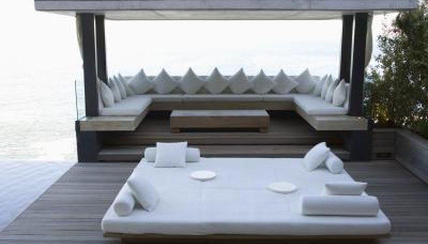 Cabana covered outdoor mattress.