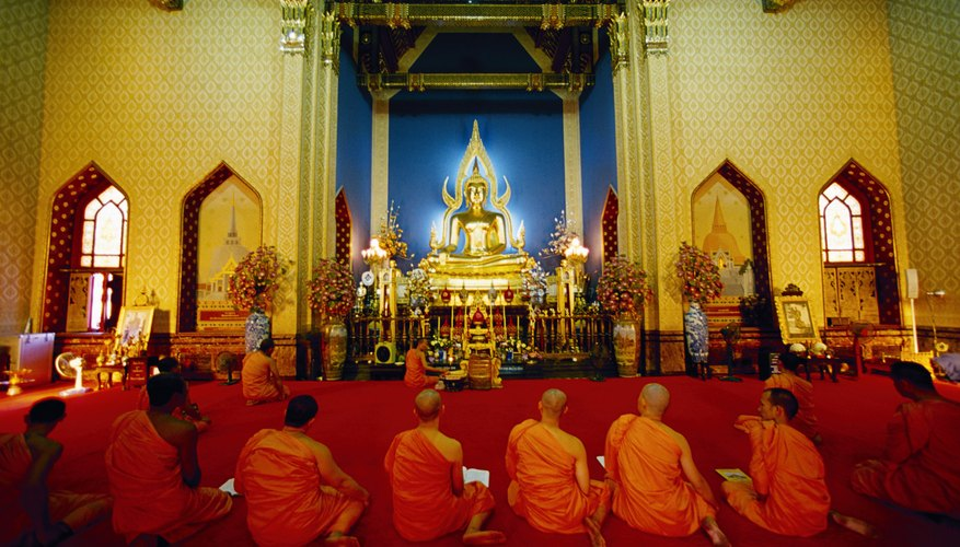 Buddhist monks perform many important services for lay people.