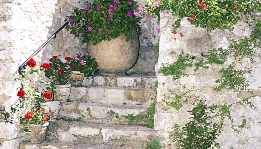 Crumbling stone steps are a risk to safety.