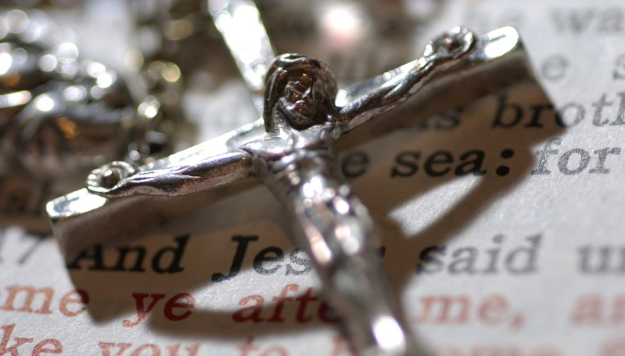 Worshipers choose their own prayers for the Episcopal Rosary.