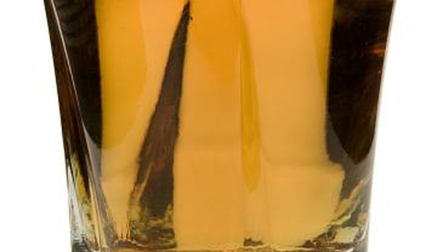 Shot drinks range from the simple, like this shot of whiskey, to the more exotic, like the buttery nipple.
