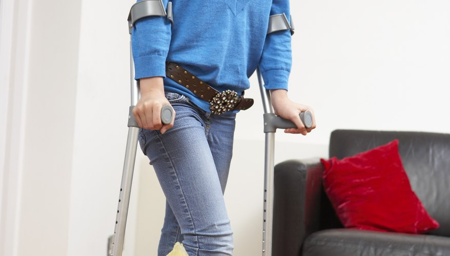 Practice plenty on new crutches to feel more confident before your date.