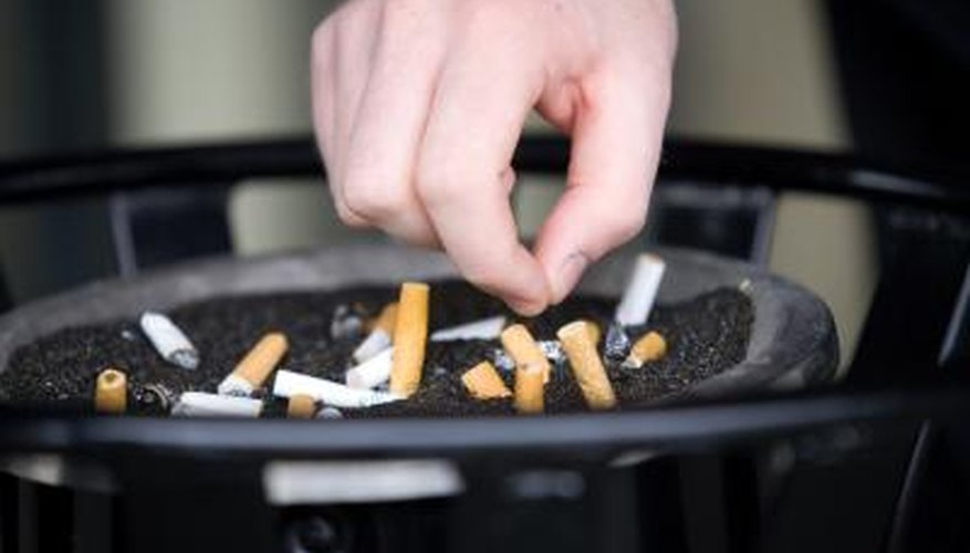 The smell and appearance of smoke remains long after cigarettes are out.