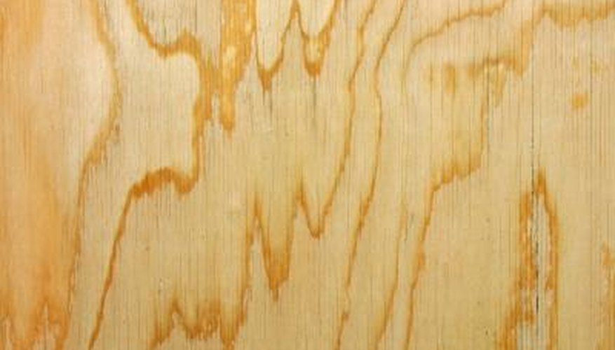 Unfinished plywood has an uneven look; paint it for use in interiors.
