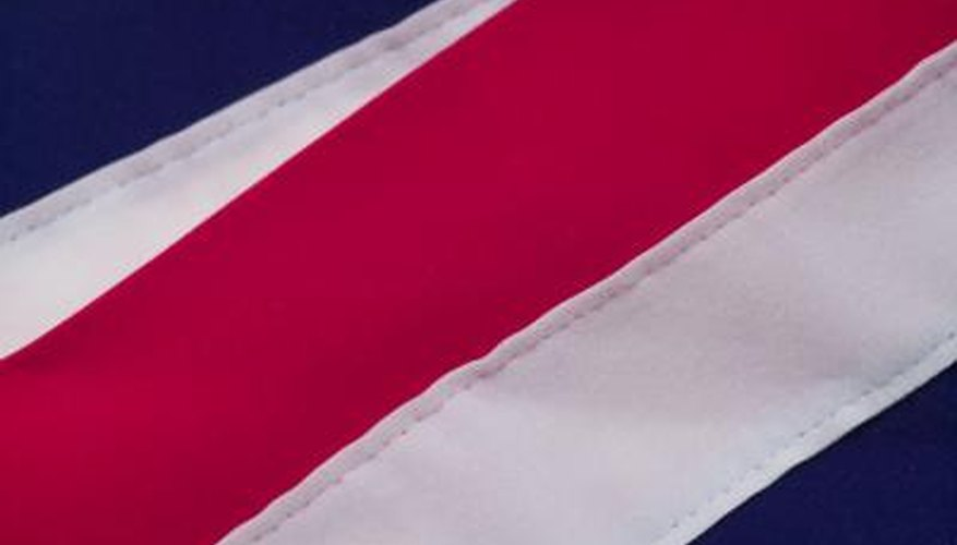 The colours red, white and blue are prominent on Tommy Hilfiger labelling.