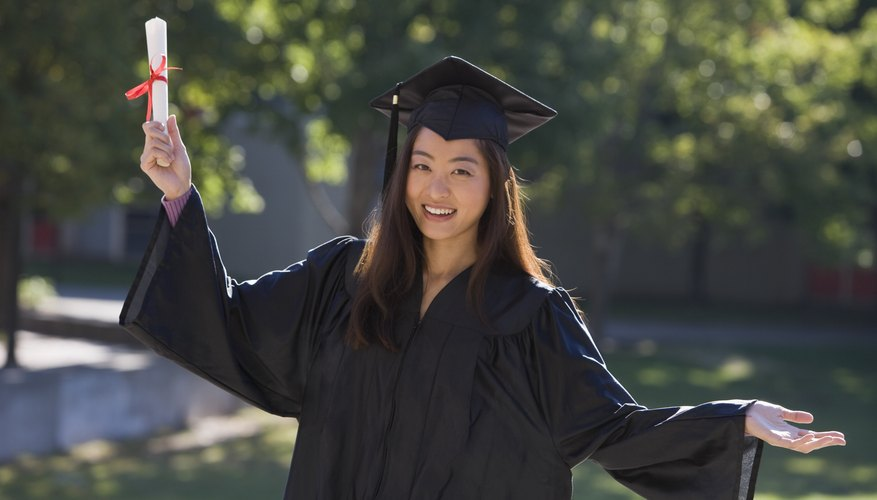 Graduate holding degree