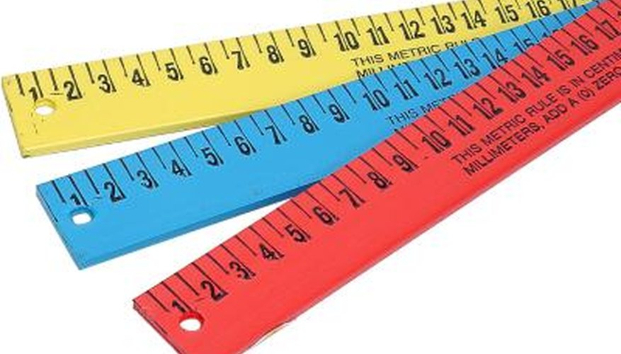 Most standard English rulers are measured in eighths or sixteenths.