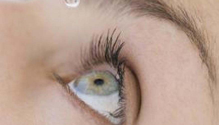 Eye drops help clear eye whites.