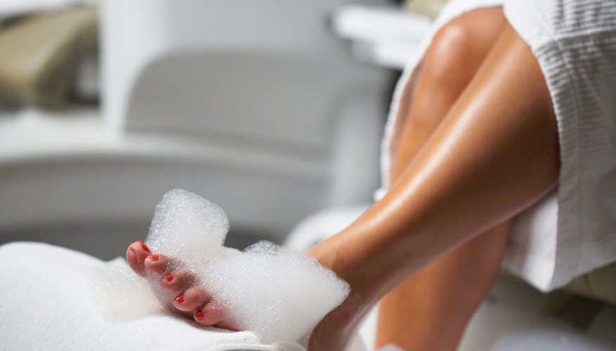 Relax with a foot soak during your pedicure.