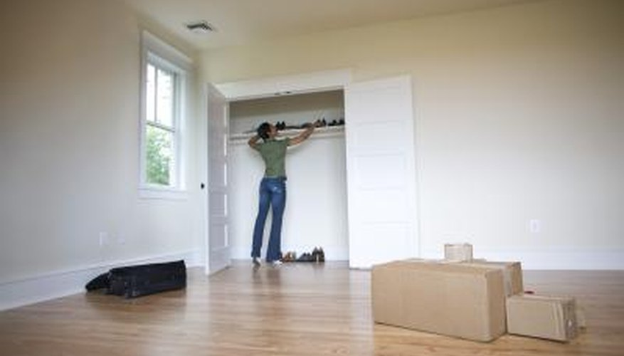 Acurate measurements are critical when installing a wardrobe.