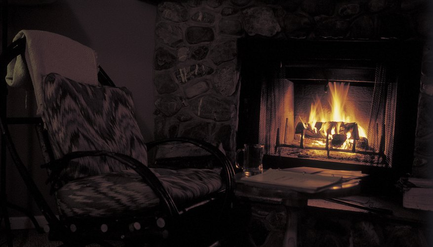 Modern electric fireplaces come complete with visual effects such as flames and smoke.