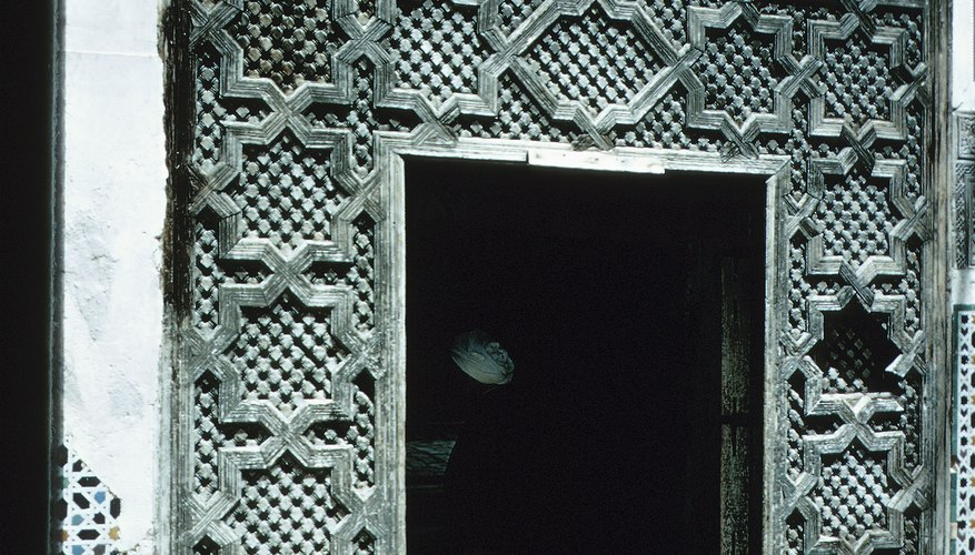 By covering buildings with patterns, Islamic artists hope to make them seem less substantial.