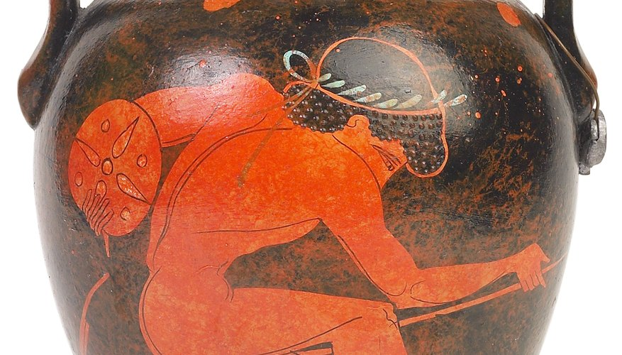 Greek pottery often depicted athletes.