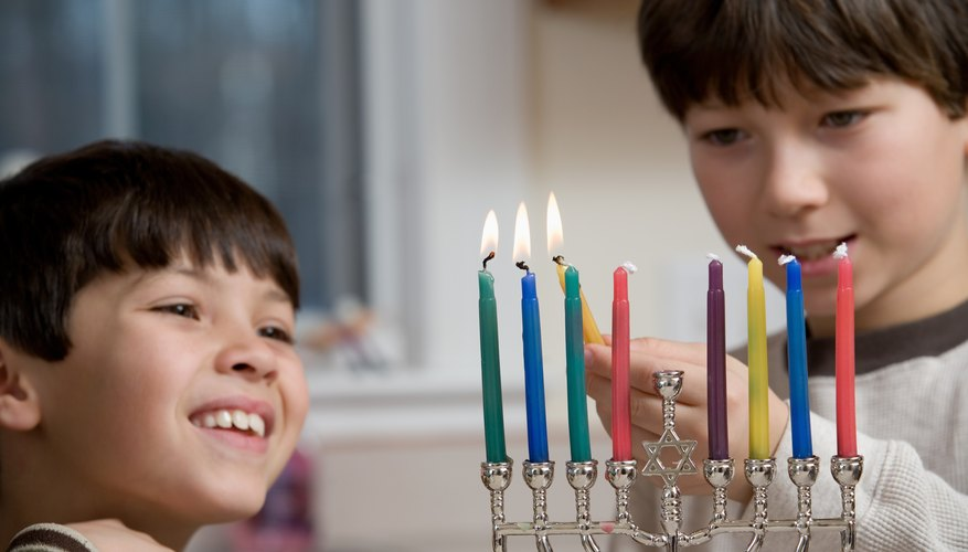 The Menorah is a common Jewish symbol.