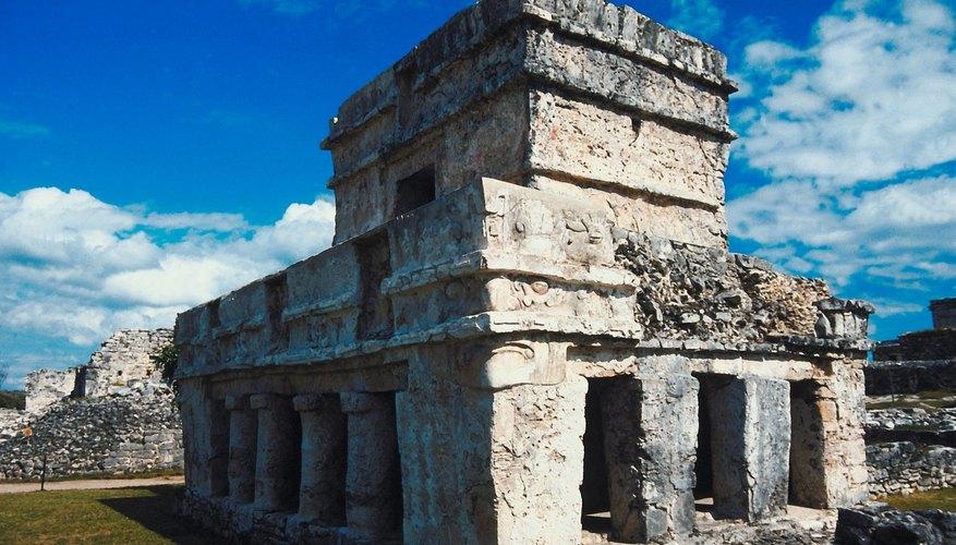 Many of Tulum's buildings depict Mayan deities.
