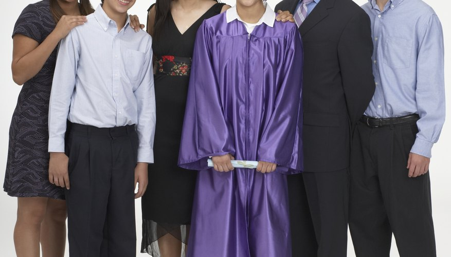 Graduation is a family celebration.