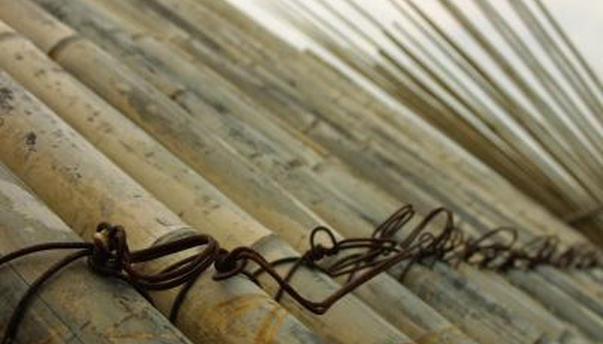 Bamboo cane is used to make furniture and fences.
