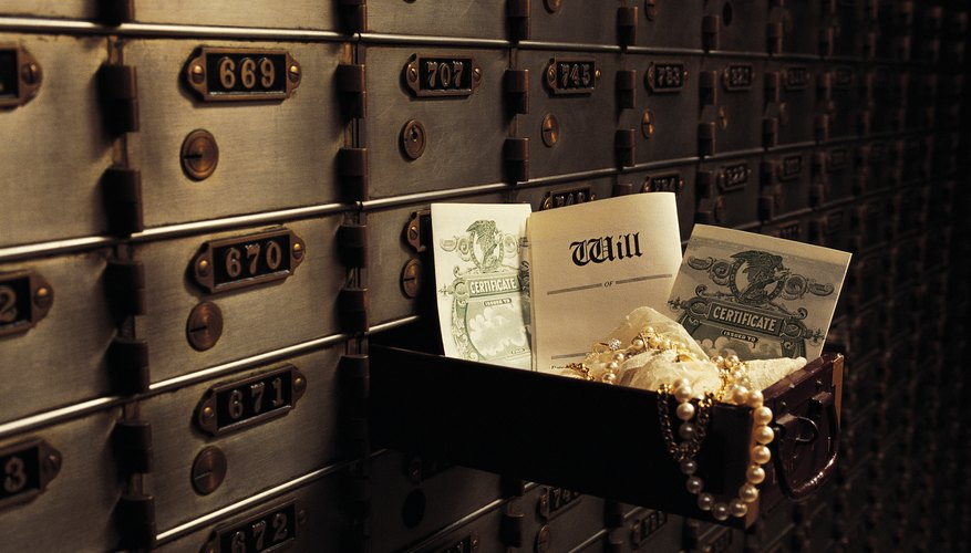 Safe deposit boxes are a secure way to store valuables.