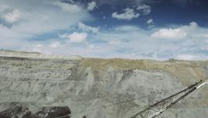 Open-pit mines allow for the use of large machines.