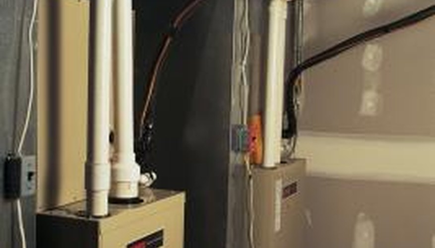 Bleed air from the fuel line before restarting an oil-fired boiler.