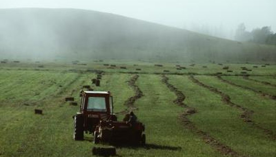 Tractors track hours of engine use instead of mileage.