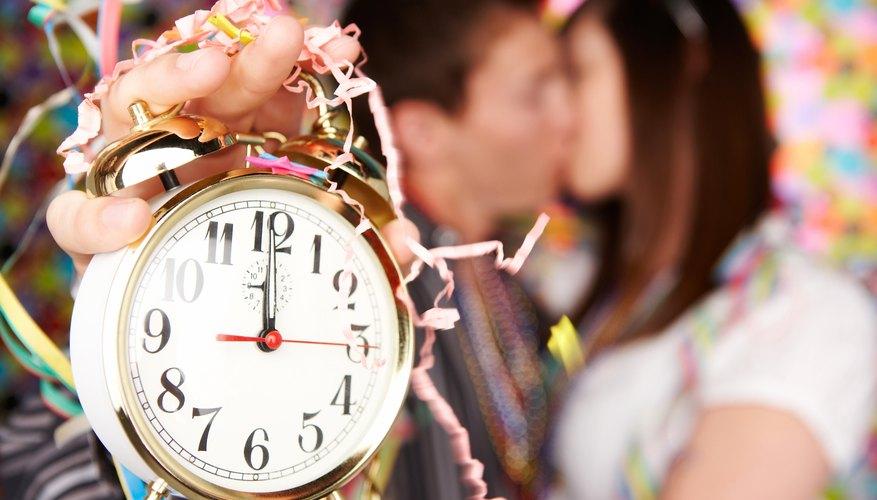 Share a virtual kiss at midnight.