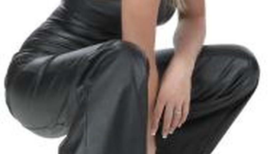 Leather trousers require regular maintenance to keep them quiet.