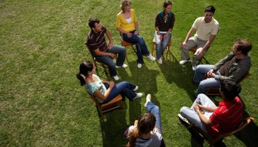 Group therapy is often in a circle so everyone can see and be seen.