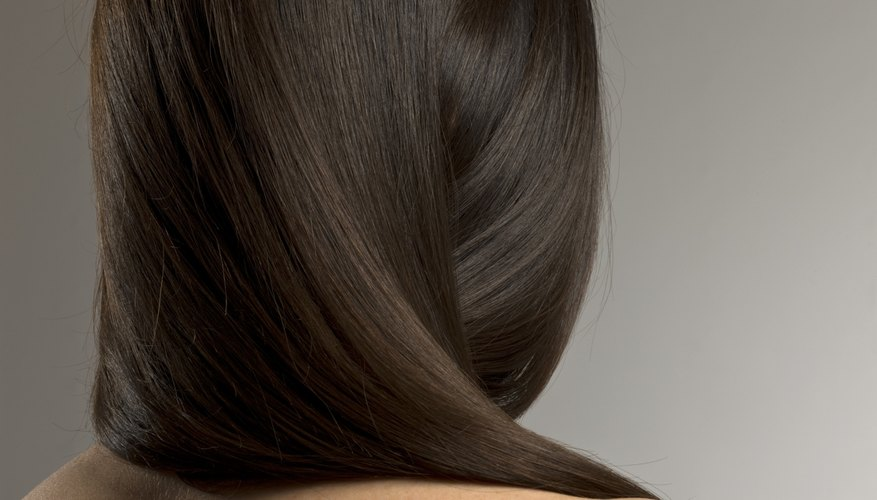 The blow-dry wrap makes for a sleek and straight look.