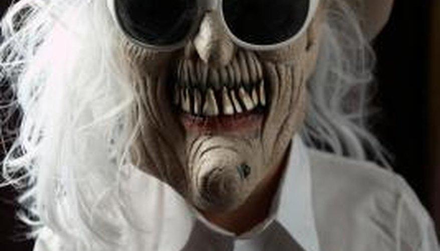 Fix tears in a Halloween mask.
