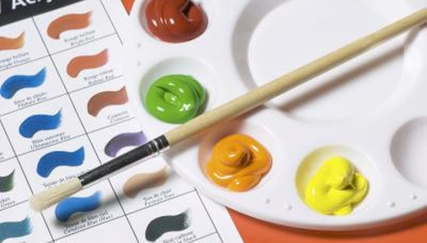Glitter pens work well on acrylic paints, as the colour darkens once dry.