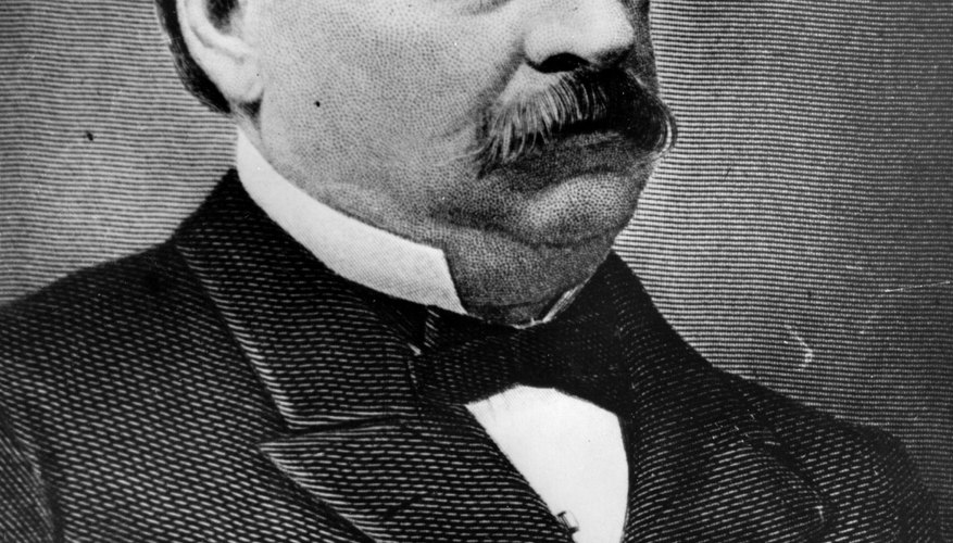 Portrait of Grover Cleveland.