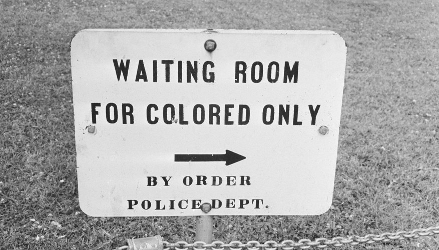 During the Jim Crow era, signs marked separate spaces for races in all public places.