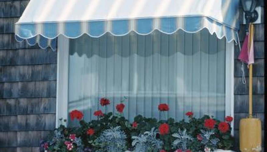 An awning controls the effect of the intense summer sun.