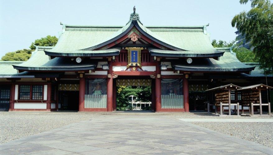 The entrance to a Shinto shrine