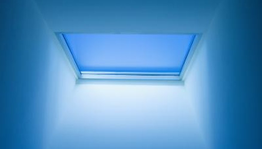 A flat roof is a good place for a skylight.